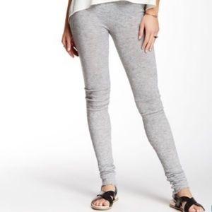 Free People Light Gray Heathered Knit Leggings M